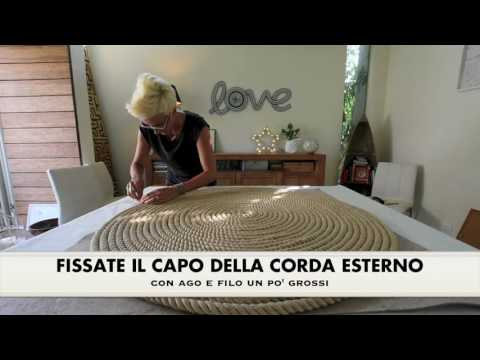 Arredamento Con Corda : Come realizzare un tappeto in corda fai da te mania