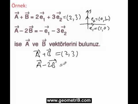 9.Sınıf Geometri vektörler konu anlatımı-2