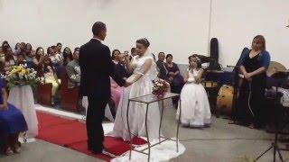 Que bom que você chegou - Noiva cantando para o noivo ( Elaine e Juninho)
