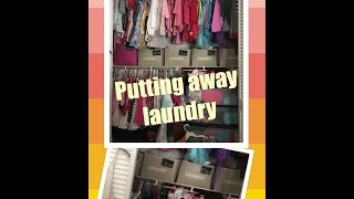 Putting Away Laundry (motivation cleaning)