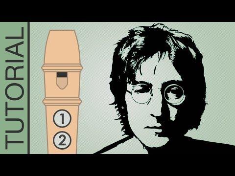 Comment jouer Imagine à la flûte (Beatles)