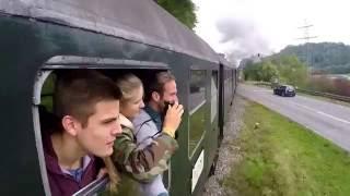 Steam locomotive ride through Black Forest