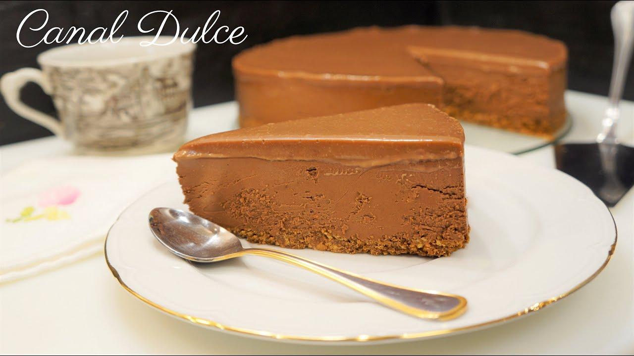 bananabrea - Receta de tarta de queso con chocolate sin gelatina y sin hornear /Gelatin-free chocolate cheesecake