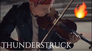 Thunderstruck - AC/DC - Violin Looping Cover by Rob Landes