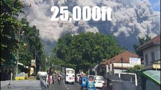 5 mile high ash plume soars into the atmosphere - Large volcano awakens!