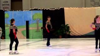 Oksana Fesz skating in Spring Show (Cruella DeVil group)-May 2012