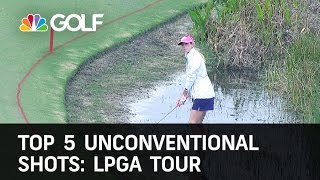 Top 5 LPGA Unconventional Shots | Golf Channel