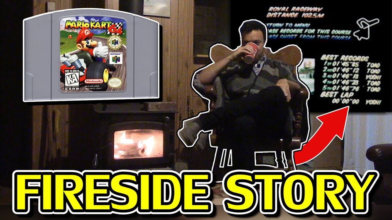 "RWhiteGoose - The 1998 Mario Kart ""Zero Second"" Timer Glitch | a Fireside Story"