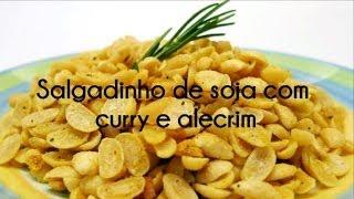 Salgadinho de soja com curry e alecrim