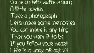 Work Of Art - Demi Lovato {lyrics}