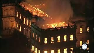 Incêndio de grandes proporções destrói o Museu Nacional, no Rio de Janeiro