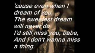David Cook- I Don't Wanna Miss a Thing(Studio Version)WITH LYRICS!!