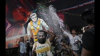 Rajinikanth fans celebrate release of 2.0, India's costliest movie ever