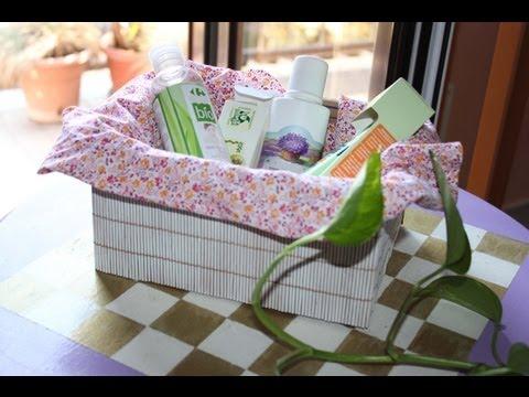 Come creare un portabiancheria con il cartone fai da te for Rivestire una scatola