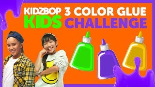3 Colors of Glue Slime Challenge with The KIDZ BOP Kids