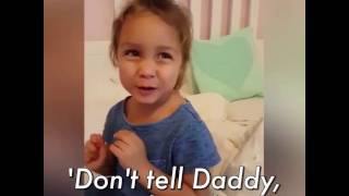 "This little girl can not stop ""swearing"""