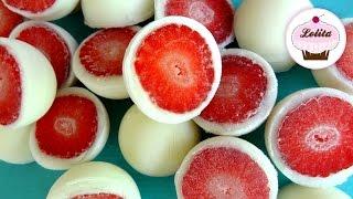 Receta de bombones helados de fresa y yogurt | Helado fácil y rápido