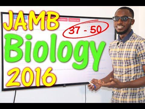 JAMB CBT Biology 2016 Past Questions 37 - 50