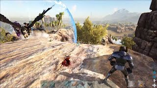 TEK vs METAL TRIBE SAVANNA MOUNTAIN BASE DEFENSE RAGNAROK PVP Ark: Survival Evolved