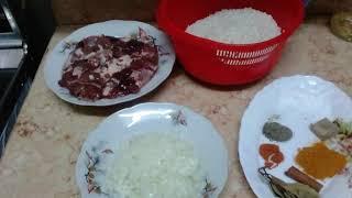 ارز مصري اصفر بالكبد والقوانص طعم طعامه مش هتحتاجي جمبه حاجة