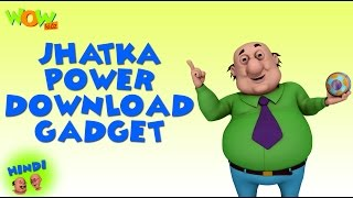 Jhatka Power Download Gadget   Motu Patlu In Hindi   3D Animation Cartoon  As On Nickelodeon
