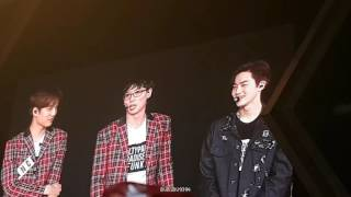 160911 EXO'rDIUM in BKK EXO & 유재석 - Ment after Dancing King