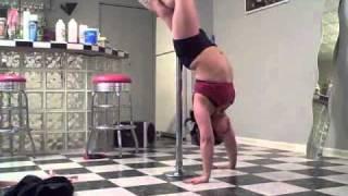 Broken foot pole dancing/stretching woooo!!!