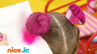 How to Create a Cupcake Updo 🍰 Style Files Hair Tutorial | Sunny Day | Nick Jr.