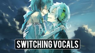 Nightcore | Gasoline ✗ House of Gold 「Switching Vocals」
