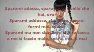 Baby K - Sparami (Testo - Lyrics on screen) HD