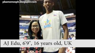 10 Tallest Under-18  Filipino Basketball Players