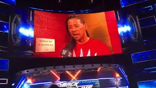 Shinsuke Nakamura Born moment「no speak engrish」on SMACKDOWNLIVE 10.04.2018