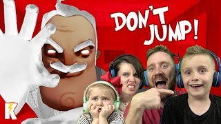 Try Not to Jump in HELLO GRANNY! Hello Neighbor Family Challenge | KIDCITY GAMING