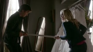 The Vampire Diaries: 8x03 - Damon tries to kill Bonnie and Caroline protects her [HD]