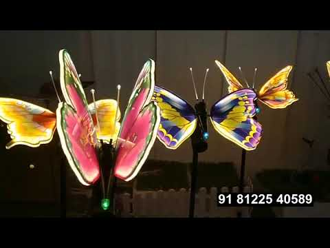 LED Light Dancing Butterfly in Wedding Event Decoration India +91 81225 40589 (WA)