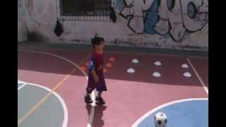 Barcelona FC entrenamiento niño Angelo Rivas