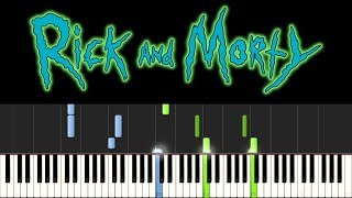 Rick and Morty - Evil Morty Theme (Piano Tutorial - Synthesia) - For The Damaged Coda (+ sheets)