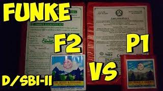 Funke Böller Vergleich | Alle Chargen F2 & P1 D/SBI/SBII