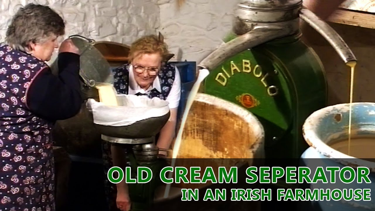 Separating Cream in a Traditional Irish Farmhouse