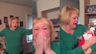 Grandma's HILARIOUS Reaction to Pregnancy Reveal! // Family Pregnancy Reactions! width=