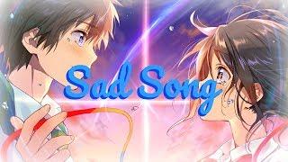 ⧔Nightcore⧕ → Sad Song (Switching Vocals) |Lyrics|