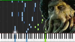 Davy Jones Theme - Pirates of the Caribbean [Piano Tutorial] (Synthesia) // Marco Tornatore