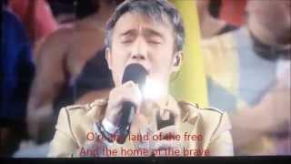 Arnel Pineda sings Star-Spangled Banner (U.S. Nat. Anthem) 26 Oct. 2015