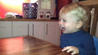 Baby Charlie Laughing At A Spinning Coin