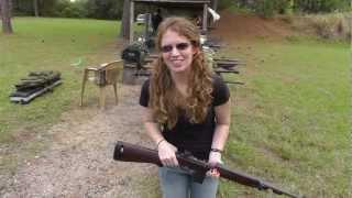 Shanni Shoots the M1 Carbine - 1943 Underwood