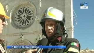 #Terremoto: scossa in diretta durante lo speciale del #Tg2000 da #Norcia