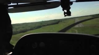 Zaynah landing at Stafford airport