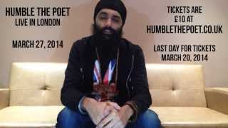 Humble The Poet LIVE in London - March 27, 2014