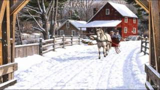 FREE Snow Motion Background - Sleigh Ride in the Snow HD