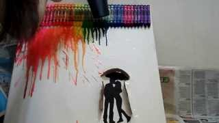 DIY: (do it yourself) Crayon Art/ Painting